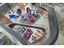 Stair at Lafayette College Rockwell Integrated Sciences Center by Payette