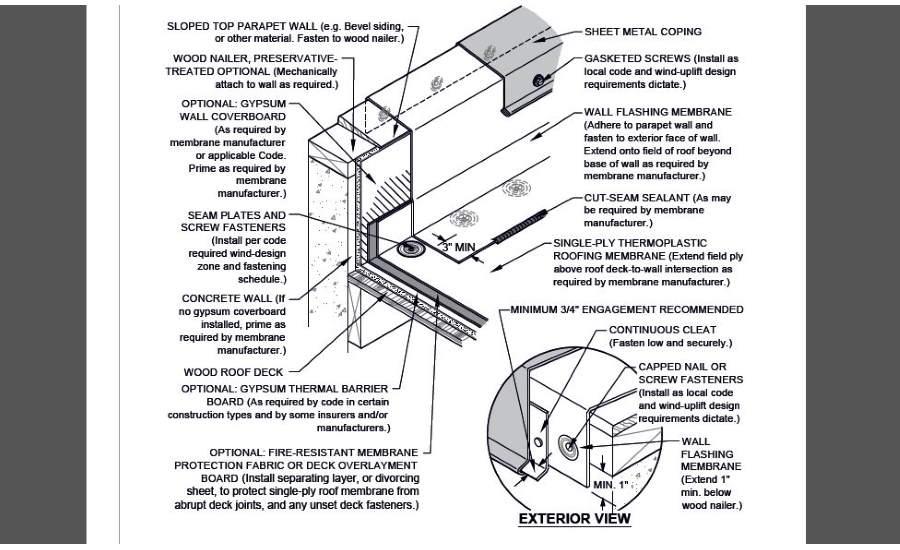 Detail Low Concrete Parapet Wall Flashing 2017 06 20