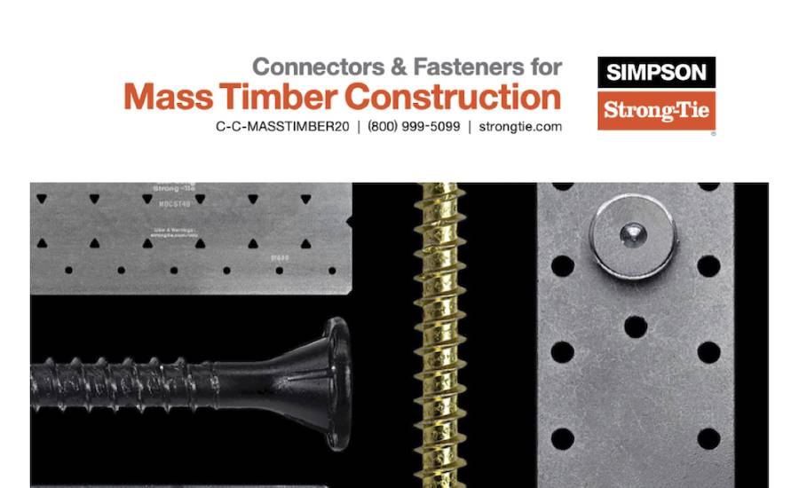 Connectors & Fasteners for Mass Timber Construction