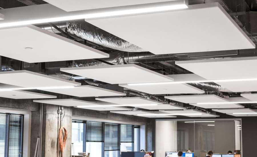 Ceiling System Enhances Open Office Design 2017 11 08
