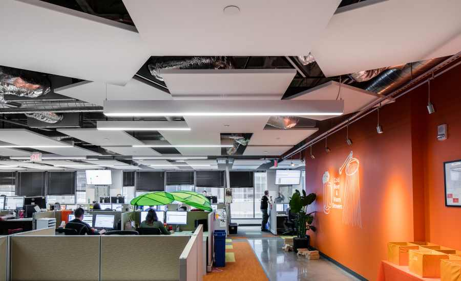 Ceiling System Enhances Open Office Design 2017 11 08