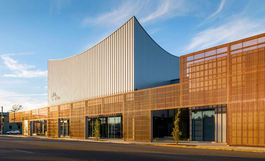 Perforated Copper Screen Adds Movement To Building 2018