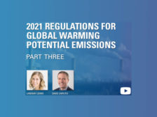 2021 Regulations for Global Warming Potential Emissions Part Three