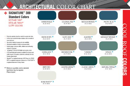 New standard color offerings 2012 03 27 building enclosure