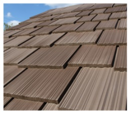 Inspire synthetic slate shingles