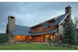 Log Cabin with RHEINZINK panels