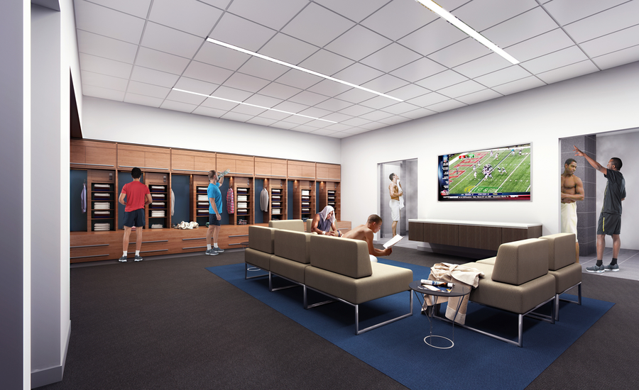 8 Baylor Scott & White Health Sports Therapy & Research complex - Pro Lockers