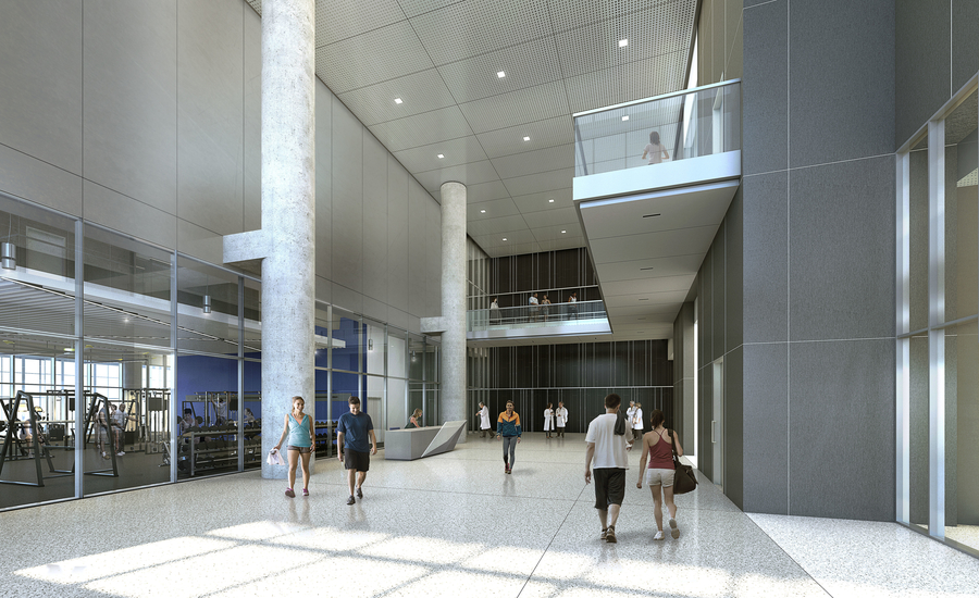 9 Baylor Scott & White Health Sports Therapy & Research complex - Tower Lobby