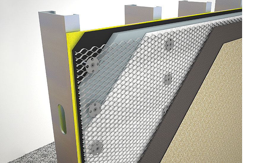 Attaching Lath For Adhered Masonry Veneer Over Continuous