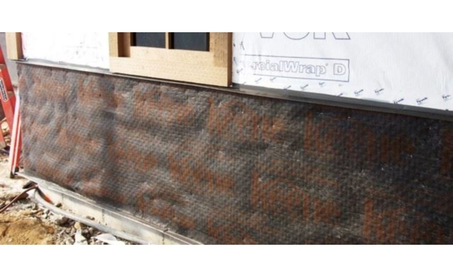 Exterior Wall Drainage : Drainage mat for exterior wall systems