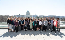 National Women in Roofing (NWIR) members attending Roofing Day in the nation's capital in April 2019.