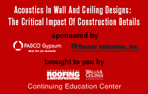 Acoustics in Wall and Ceiling Designs: The Critical Impact of Construction Details